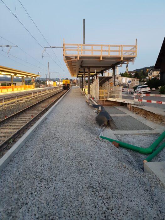 Ausbau/Perronerhöhung Bahnhof Wauwil