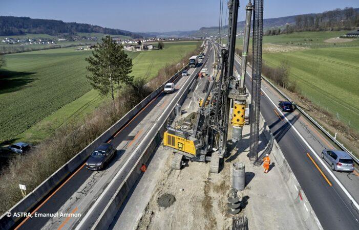 Bau während Verkehr - EP Reiden-Sursee